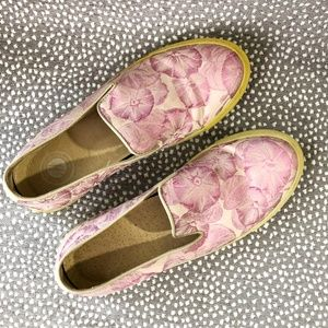H by Halston Pink Floral Slip-On Sneakers